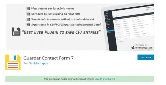 Cómo almacenar lo enviado por el plugin Contact Form 7